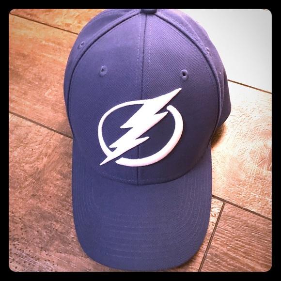 on sale 0f012 94546 ... official adult adjustable blue tampa bay lightning cap hat 0a7b7 8d3cb